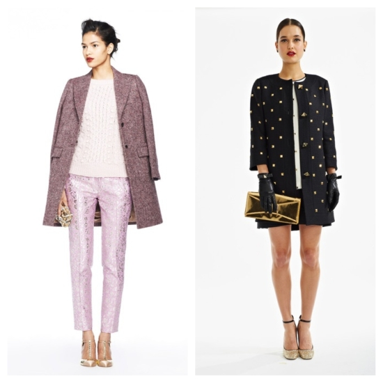 From left: J. Crew; Kate Spade New York.
