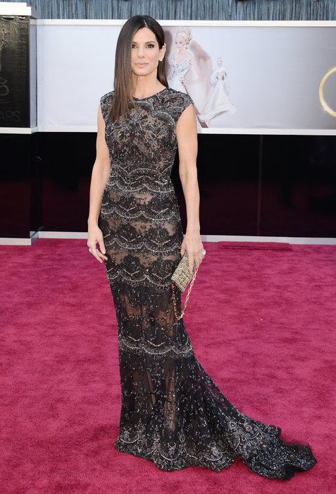 Sandra Bullock in Marchesa.