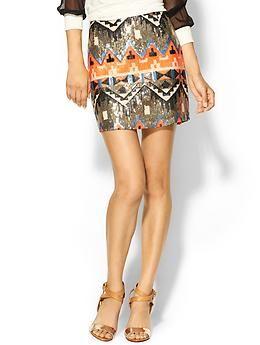 Sabine Carolina Geo Sequin Mini Skirt