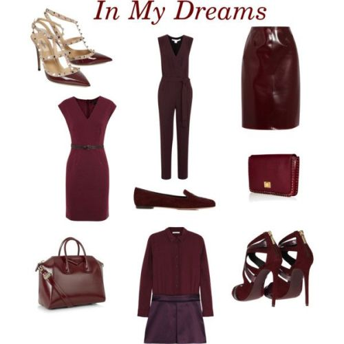 Clockwise from top left: Valentino studded pumps; Diane Von Furstenberg jumpsuit; Burberry Prorsum skirt; Emilio Pucci clutch; Dolce & Gabbana strappy sandals; Victoria, Victoria Beckham dress; Givenchy tote; Marc Jacobs dress; and Alexander McQueen loafers.