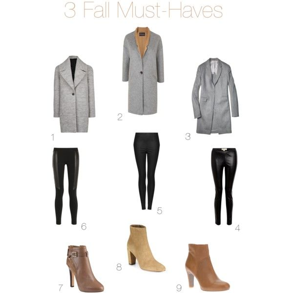 1. MANGO wool blend coat 2. Jaeger double-faced coat 3. Reed Krakoff bonded coat 4. MICHAEL Michael Kors faux-leather leggings 5. Topshop faux-leather leggings 6. DKNY leather-paneled leggings 7. Diane von Furstenberg leather and suede ankle boots 8. Jean-Michel Cazabat suede ankle boots 9. Roberto Del Carlo leather ankle boots