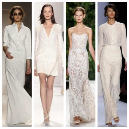 From left to right: Rachel Zoe; J.Mendel; Naeem Khan; and Badgley Mischka.