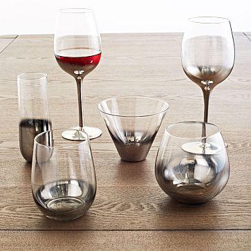Metallic ombre glassware set by West Elm