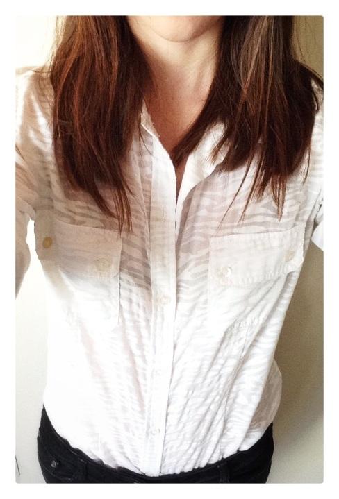zebra print, zebra print shirt, oxford shirt, white button down, white oxford shirt, white shirt, button down, fashion, style