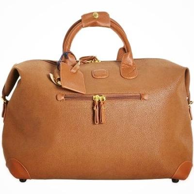 bag, tote bag, duffel bag, travel bag, travel, fashion, style, accessories, travel accessories, duffel bag, leather bag, leather duffel bag, camel leather duffel bag, brics duffel bag