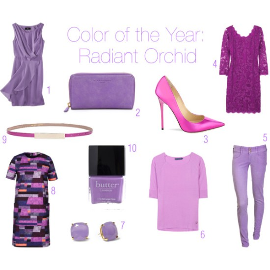 fashion, style, clothes, clothing, shopping, trends, color, lilac, lavender, orchid, purple, color of the year, radiant orchid, pantone, trends, dress, mossimo, wallet, liebeskind, shoes, heels, pumps, jimmy choo, lace dress, dvf, diane von furstenberg, jeans, met, sweater, cashmere sweater, ralph lauren, earrings, stud earrings, kate spade, kate spade new york, dress, printed dress, calla, belt, skinny belt, nail polish, fingernail polish, butter london