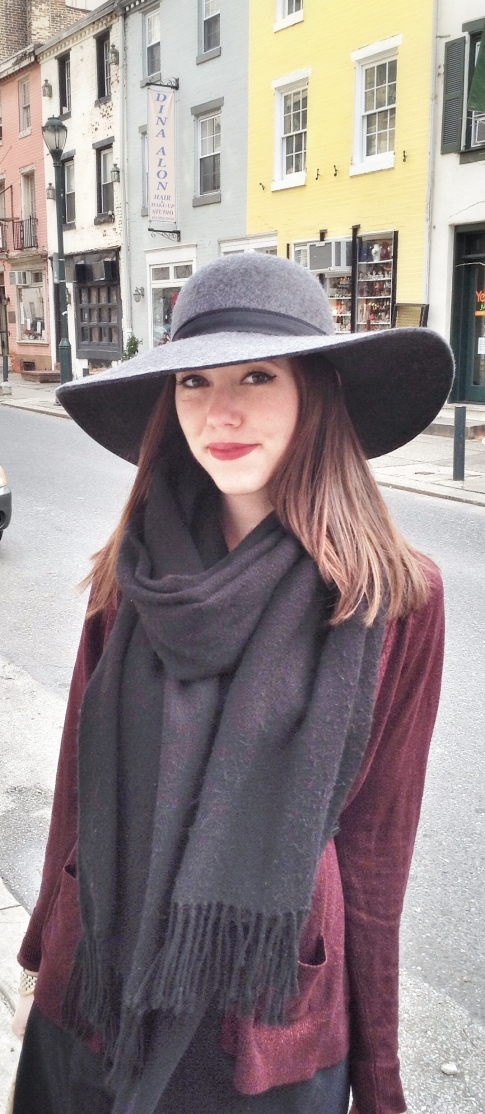 fashion ,style, clothing, clothes, shopping, layers, layering, winter layers, hat, felt hat, dress, scarf, cardigan, accessories, belt, leggings, snakeskin leggings, winter hat, winter outfit, winter style, booties, gap, h&m, target, jewelry, ring, earrings, watch, bracelet, gold jewelry