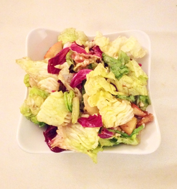 food, recipe, cooking, salad, salad recipe, healthy recipe, healthy food, healthy salad, healthy salad recipe, healthy eating, chopped salad, chopped salad recipe, bacon, poppy seed dressing, balsamic vinegar, cranberries, dried cranberries, peanuts, apples
