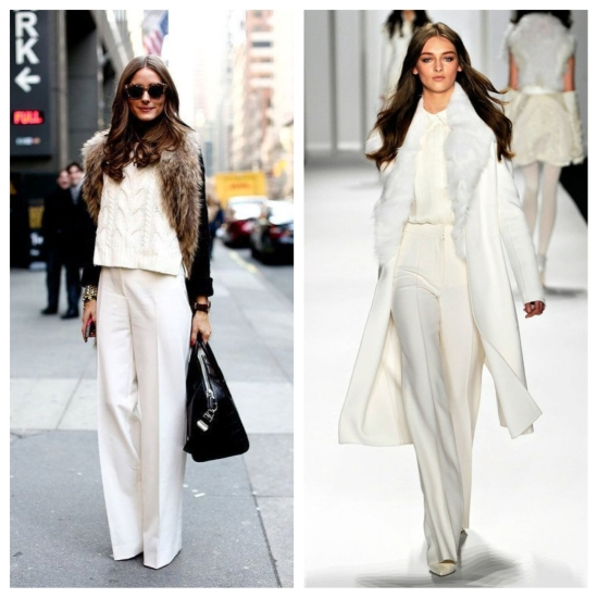 fashion, style, trends, clothing, clothes, winter, winter style, winter fashion, winter trends, winter outfit, winter whites, white clothes, white outfit, white ensemble, olivia palermo, runway fashion