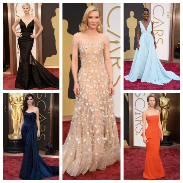 oscars, 2014 oscars, academy awards, 2014 academy awards, best dressed, oscars best dressed, 2014 oscars best dressed, gowns, dresses, designer gowns, designer dresses, red carpet, red carpet style, red carpet fashion, designer fashion, fashion, style, charlize theron, christian dior, lupita nyongo, prada, jennifer lawrence, dior, sandra bullock, alexander mcqueen, cate blanchett, giorgio armani