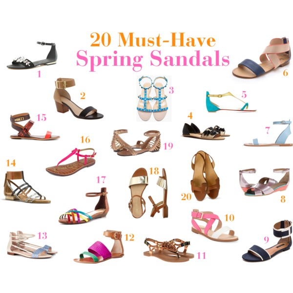 fashion, style, shopping, shoes, sandals, spring shoes, spring sandals, sandals for spring, shoes for spring, must have shoes for spring, must have sandals for spring, flat sandals, strappy sandals, heeled sandals, ankle strap sandals, river island, jeweled sandals, banana republic, studded sandals, valentino, woven sandals, loeffler randall, christian louboutin, louboutins, splendid, zara, wedge sandal, marc jacobs, marc by marc jacobs, rachel zoe, two tone sandals, kate spade, kate spade new york, dv by dolce vita, dolce vita, metallic sandals, sole society, gladiator sandals, coach, snakeskin sandals, aerin, thong sandals, sam edelman, multicolor sandals, jessica simpson, gap, spiked sandals, rachel roy, hermes, hermes sandals