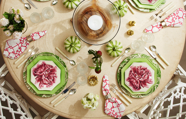 home, home decor, decor, decorating, dinnerware, glassware, entertaining, oscar de la renta, oscar de la renta home line, oscar de la renta home collection