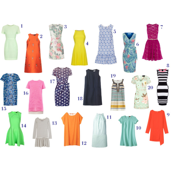 fashion, style, spring, spring style, spring dress, dress, spring fashion, clothes, shopping, trends, style trends, fashion trends, floral dress, floral print dress, printed dress, summer dress, green dress, orange dress, a-line dress, sheath dress, halter dress, yellow dress, blue dress, pink dress, red dress, striped dress, navy dress, jonathan saunders, topshop, matthew williamson, nicole miller, john lewis, oasis, karen millen, tibi, merona, kenzo, hush, ted baker, michael kors, michael michael kors, richard nicoll, diane von furstenberg, dvf, toast, calypso st. barth, needle & thread