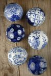 decor, home, home decor, decorating, design, interior design, interior decorating, interiors, porcelain, porcelain decor, decorative porcelain balls, printed decor, patterned decor, delft blue, delft blue pattern, delft blue decor