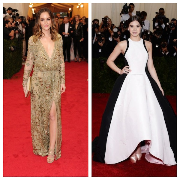 fashion, style, celebrity fashion, celebrity style, met gala, met gala 2014, 2014 met gala, met ball, costume institute, met ball 2014, red carpet, red carpet fashion, red carpet style, red carpet gowns, celebrity fashion, celebrity style, leighton meester, emilio pucci, pucci, hailee steinfeld, prabal gurung