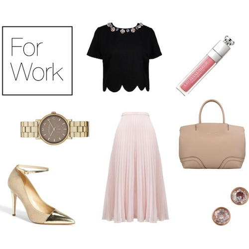 fashion, style, clothes, outfits, outfit ideas, ballet, dancer, ballerina, ballerina style, ballerina inspired style, work outfit, work wardrobe, midi skirt