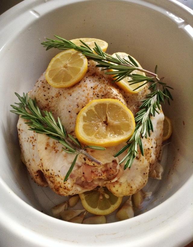... roasted chicken, slow cooker roasted chicken, garlic, roasted garlic